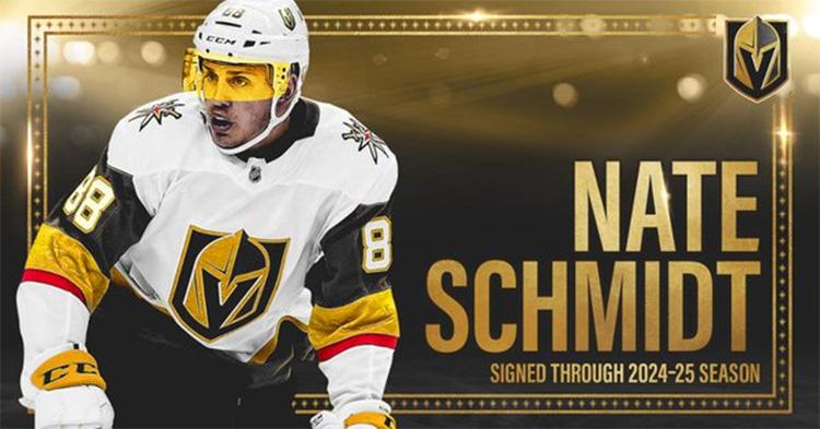 Vegas Golden Knights jatkoi Nate Schmidtin sopimusta kuusi vuotta!