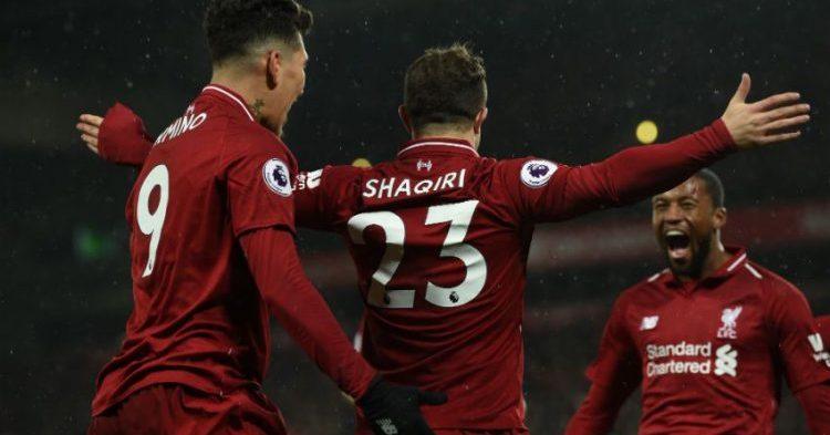 Liverpool takaisin sarjakärkeen – Shaqiri sankarina
