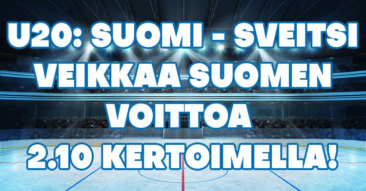 Leijonien U20-välierävoitolle peräti 2.10 kerroin!