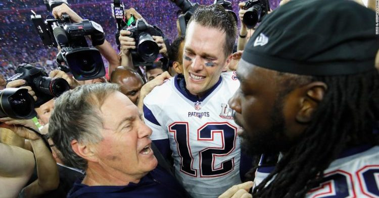 New England Patriots juhlii Super Bowl voittoa