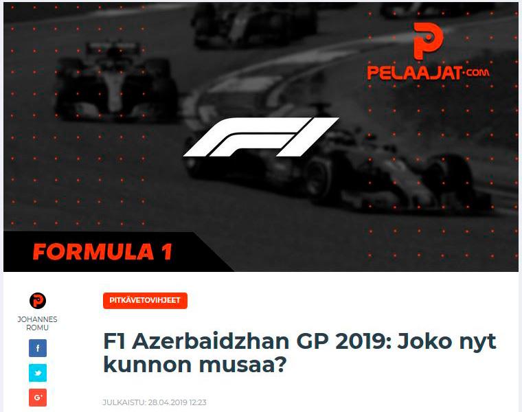 F1 pitkävetovihjeet