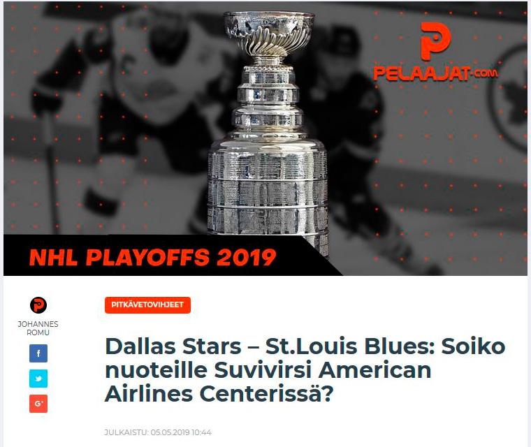 NHL pitkävetovihjeet