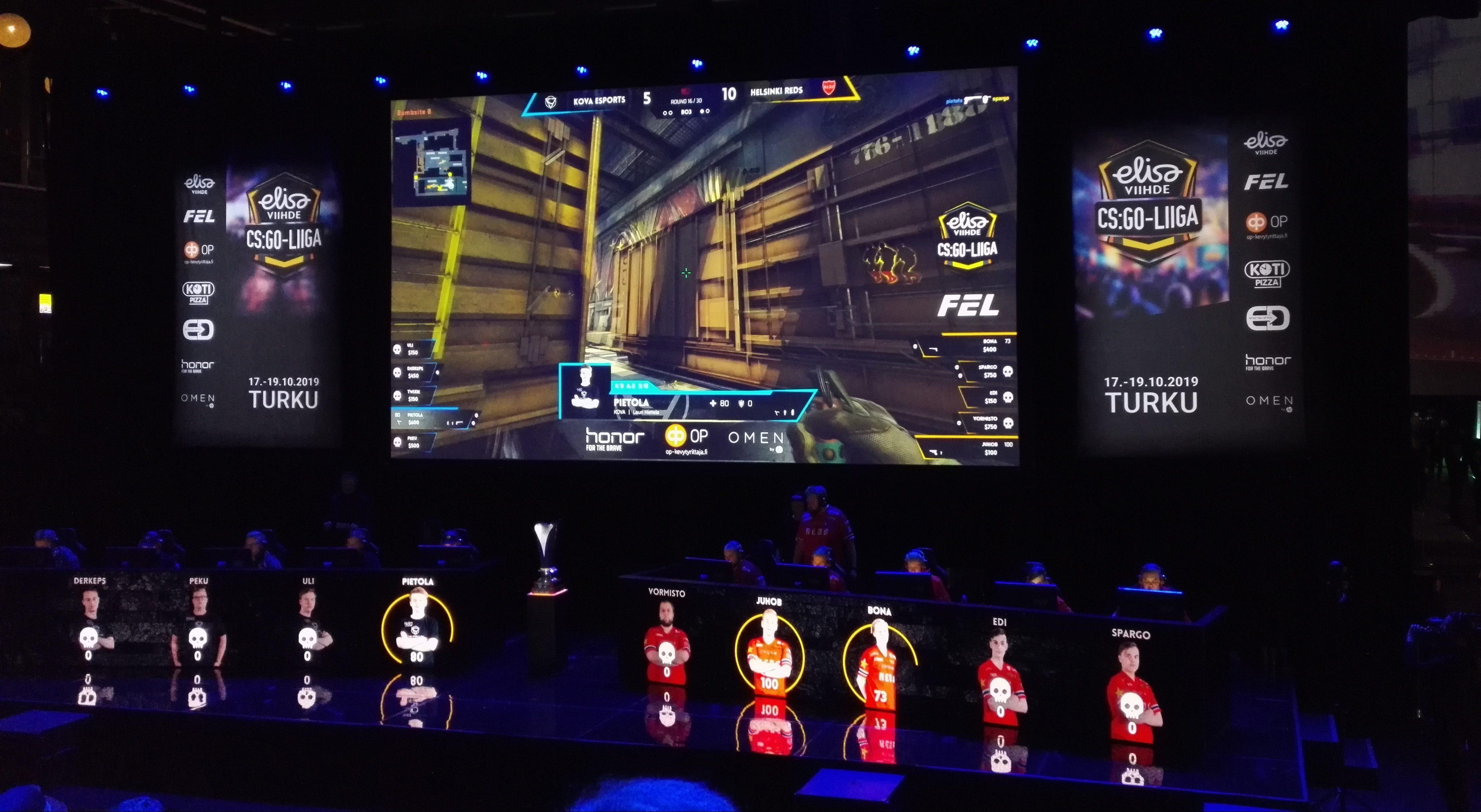 SJ Gaming ja Helsinki REDS kohtaavat illan Elisa Viihde CS:GO-liigan finaalissa